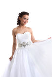 Portrait of happy charming bride, close-up Royalty Free Stock Image
