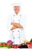 Portrait of happy chef in uniform Stock Photo