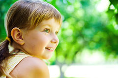 Portrait of a happy child royalty free stock photos