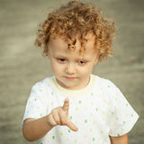 Portrait of happy child stock images
