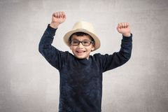 Portrait of happy child isolated on white background royalty free stock photography