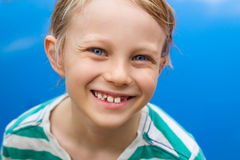 Portrait of happy child next to swimming pool Stock Image
