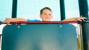 Portrait of happy child at playground Royalty Free Stock Photos
