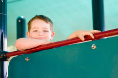 Portrait of happy child at playground Stock Images