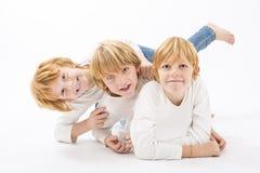 Portrait of the happy children Stock Photos