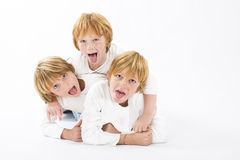 Portrait of the happy children Stock Images