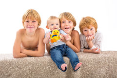 Portrait of the happy children Stock Photography
