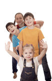 Portrait of happy children Stock Images