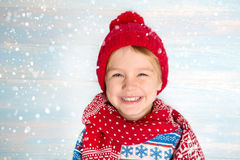 Portrait of happy Christmas boy Stock Photography