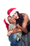 Portrait of happy Christmas family Stock Images