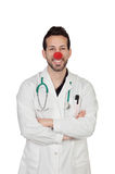 Portrait Of Happy Clown Doctor Royalty Free Stock Images