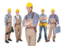 Portrait of happy construction workers Royalty Free Stock Photography