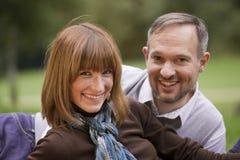 Portrait of happy couple stock image