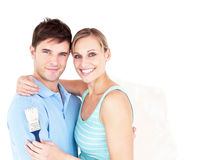Portrait of a happy couple Stock Photos