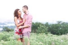 Portrait of happy couple stock photography