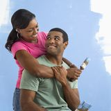 Portrait of happy couple Stock Photos