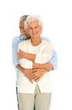 Portrait of a happy couple of elderly. In white background Stock Photo
