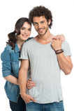 Portrait Of Happy Couple Embracing stock images