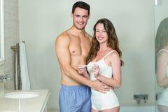 Portrait of happy couple embracing Stock Photos