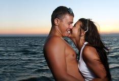 Portrait of happy couple enjoying vacations Stock Image