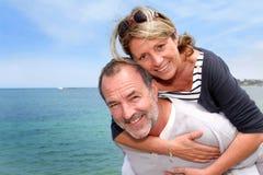 Portrait of happy couple having fun on holidays Royalty Free Stock Photos