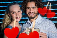 Portrait of happy couple holding wine glasses Royalty Free Stock Photo