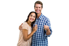 Portrait of happy couple with keys Stock Photography
