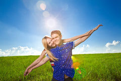 Portrait of a happy couple Royalty Free Stock Photo