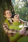 Portrait of happy couple in nature Royalty Free Stock Photos
