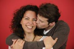 Portrait of an happy couple stock photos