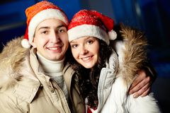 Couple of Santas Royalty Free Stock Images