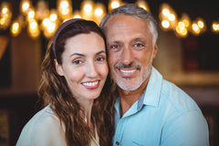 Portrait of happy couple smiling at camera Royalty Free Stock Photos