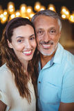 Portrait of happy couple smiling at camera Royalty Free Stock Images