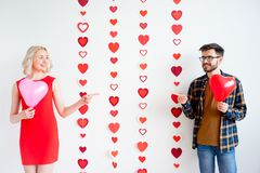 Couple on valentine day stock images