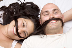Portrait happy couple. Royalty Free Stock Photo