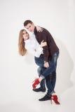 Portrait of happy couple Stock Images