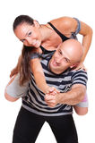 Portrait of happy couple of young people Royalty Free Stock Photography