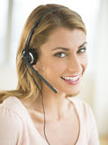 Portrait Of Happy Customer Service Representative Royalty Free Stock Image