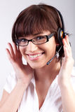 Portrait of a happy customer support Royalty Free Stock Photos