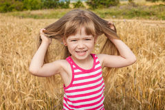 Portrait of happy cute child Royalty Free Stock Images
