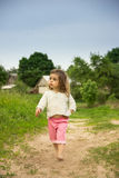 portrait of happy Cute kid having fun at countryside Stock Image