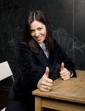 Portrait of happy cute student in classroom Royalty Free Stock Photo