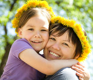 Portrait of happy daughter with her mother Royalty Free Stock Photography
