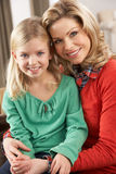 Portrait Of Happy Daughter With Mother Stock Photography