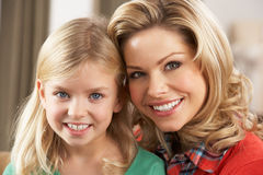 Portrait Of Happy Daughter With Mother Stock Image