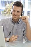 Portrait of happy dispatcher Stock Photo