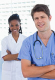 Portrait of happy doctors standing up Royalty Free Stock Photo
