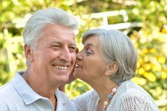 Portrait of a happy elder couple Royalty Free Stock Images
