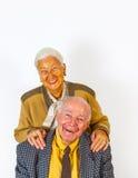 Portrait of happy elderly senior Royalty Free Stock Photo