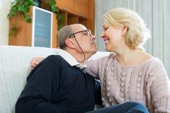 Portrait of happy elderly spouses Stock Image
